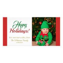 Happy Holidays Christmas Photo Card