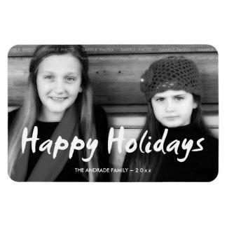 Happy Holidays Christmas Photo Holiday Wishes Fun Rectangular Photo Magnet
