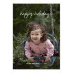 Happy Holidays Christmas Photo Holiday Wishes Red Card