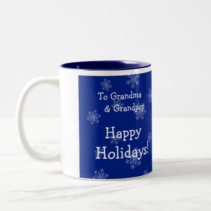 Happy Holidays Christmas Photo Mug