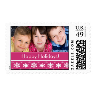 Happy Holidays Christmas Photo Postage Stamps