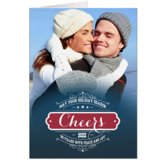 Happy Holidays. Christmas Photo Template Cards