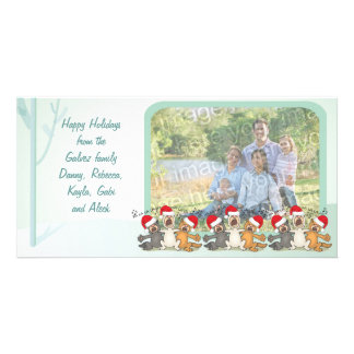 Happy Holidays Christmas Scene Photo Card