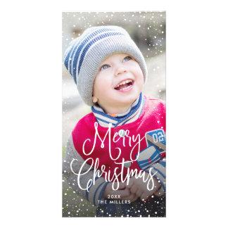 Happy Holidays Christmas Snow Photo Card