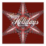Happy Holidays Christmas Star Invitation Cardz