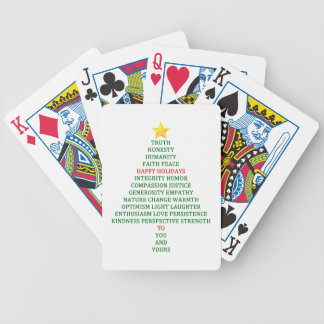 Happy Holidays Christmas Tree Blessing Bicycle Playing Cards