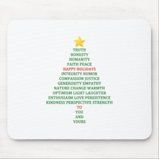 Happy Holidays Christmas Tree Blessing Mouse Pad