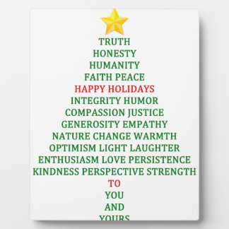 Happy Holidays Christmas Tree Blessing Plaque