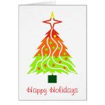 Happy Holidays Christmas Tree Card