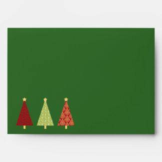 Happy Holidays Christmas Tree Envelopes
