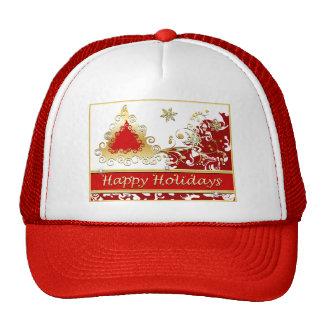 Happy Holidays Christmas Tree Hat
