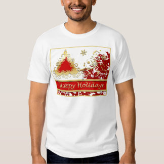 Happy Holidays Christmas Tree Tee Shirt