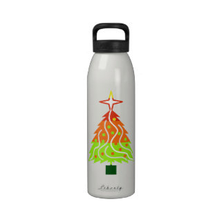 Happy Holidays Christmas Tree Reusable Water Bottle