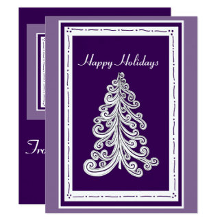 Happy Holidays Christmas Tree with Photo Template Card