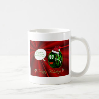 Happy Holidays Christmas tyre santa hat Coffee Mug