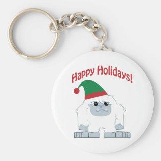 Happy Holidays! Christmas Yeti Keychain