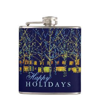 Happy Holidays City Lights Hip Flasks