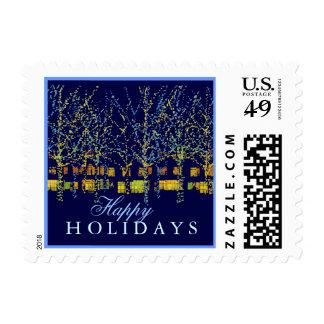 Happy Holidays City Lights Stamp