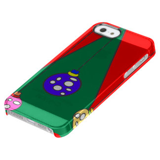 Happy Holidays Clear iPhone SE/5/5s Case