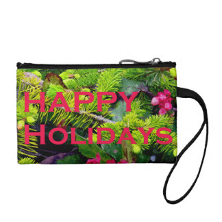 Happy Holidays Coin Purse