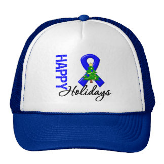 Happy Holidays Colon Cancer Awareness Trucker Hat