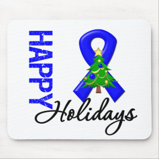 Happy Holidays Colon Cancer Awareness Mouse Pads