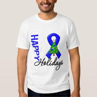 Happy Holidays Colon Cancer Awareness T Shirt