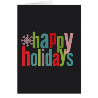Happy Holidays Colored Chalkboard Stationery Note Card