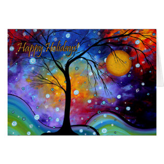 Happy Holidays Colorful Art Greeting Card MADART