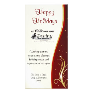 Happy Holidays Company Logo Card