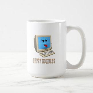HAPPY HOLIDAYS COMPUTER GREETING COFFEE MUG