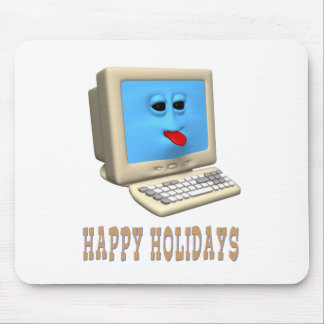 HAPPY HOLIDAYS COMPUTER GREETING MOUSE PAD