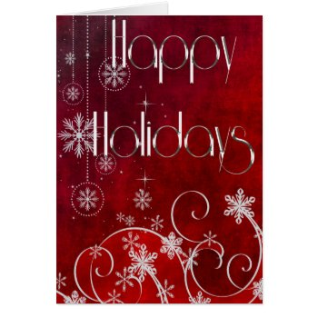 Happy Holidays Contemporary Card