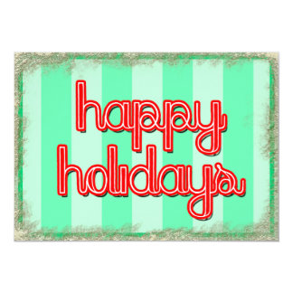 happy holidays corporate customize red green card