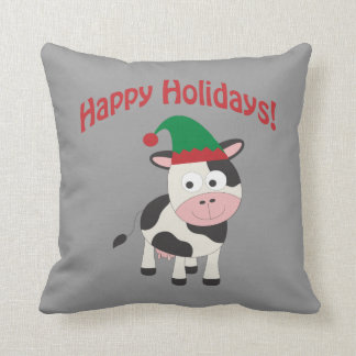 Happy Holidays! Cow Elf Pillows