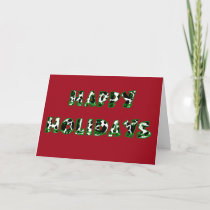 Happy Holidays Cow Print Card