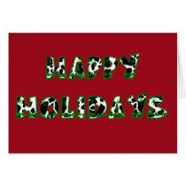 Happy Holidays Cow Print Card