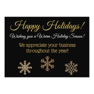 Professional Business Happy Holidays Custom Business Card