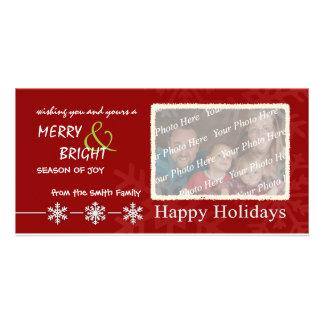 Happy Holidays Custom Family Photo Cards