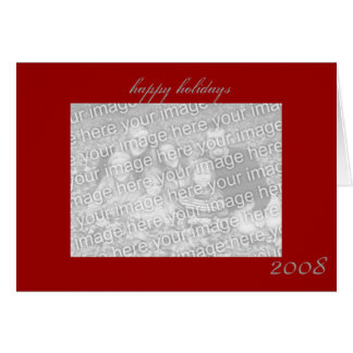 happy holidays custom photo greeting card