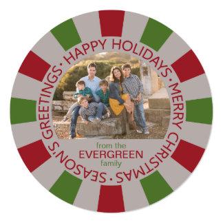 Happy Holidays custom Photo & Name card