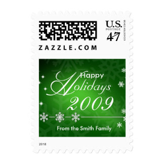 Happy Holidays Custom Postage Stamps - Small