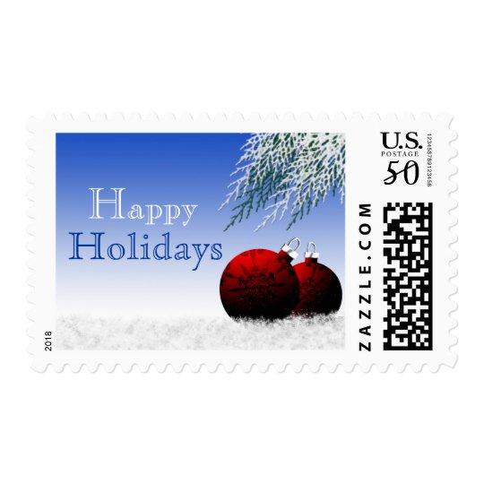 Happy Holidays Custom Template Christmas Xmas Postage