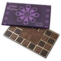 Happy Holidays Customizable Chocolates by Janz