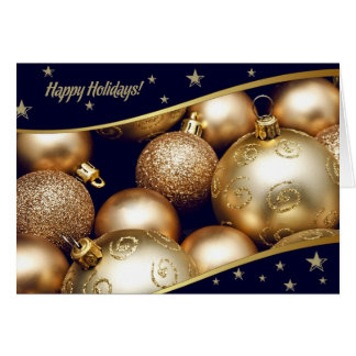 Happy Holidays. Customizable Christmas Card