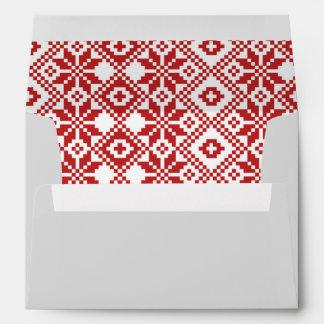 Happy Holidays. Customizable Christmas Envelopes