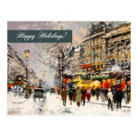 Happy Holidays. Customizable Christmas Postcards