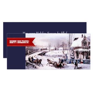 Happy Holidays. Customizable Flat Christmas Cards