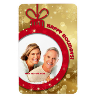 Happy Holidays. Customizable Photo Magnets Rectangle Magnets