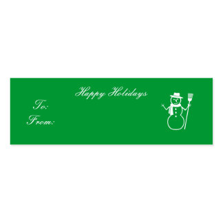 Happy Holidays - Customized Double-Sided Mini Business Cards (Pack Of 20)